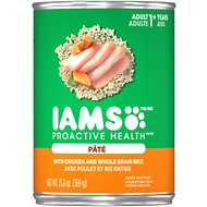 Iams ProActive Health Adult With Chicken & Whole Grain Rice Pate Canned Dog Food, 13-oz, case of 12