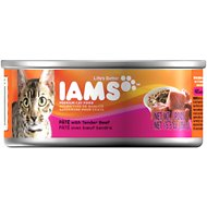 Iams Premium Pate with Tender Beef Canned Cat Food, 5.5-oz, case of 12