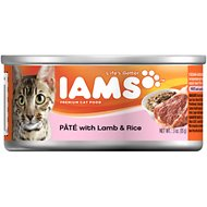 Iams Premium Pate with Lamb & Rice Canned Cat Food, 3-oz, case of 24