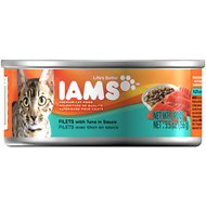 Iams Premium Filets with Tuna in Sauce Canned Cat Food, 5.5-oz, case of 12