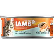 Iams Premium Pate with Savory Salmon Canned Cat Food, 5.5-oz, case of 12