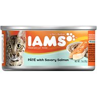 Iams Premium Pate with Savory Salmon Canned Cat Food, 3-oz, case of 24