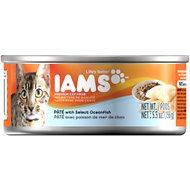 Iams Premium Pate with Select Oceanfish Canned Cat Food, 5.5-oz, case of 12