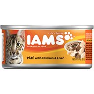 Iams Premium Pate with Chicken & Liver Canned Cat Food, 3-oz, case of 24