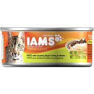Iams Premium Pate with Country Style Turkey & Giblets Canned Cat Food, 5.5-oz, case of 12