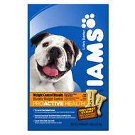 Iams ProActive Health Adult Weight Control Formula Biscuit Dog Treats, 4-lb box