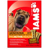Iams ProActive Health Adult Lamb Meal & Rice Biscuits Dog Treats, 24-oz