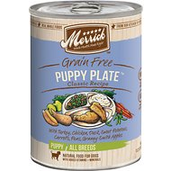Merrick Classic Grain-Free Puppy Plate Recipe Canned Dog Food, 13.2-oz, case of 12