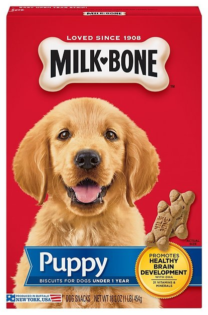 Milk Bone Original Puppy Biscuit Dog Treats 16 Oz Box