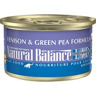 Natural Balance L.I.D. Limited Ingredient Diets Venison & Green Pea Formula Grain-Free Canned Cat Food, 3-oz, case of 24