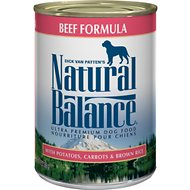 Natural Balance Ultra Premium Beef Formula Canned Dog Food, 13-oz, case of 12