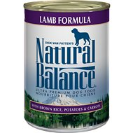 Natural Balance Ultra Premium Lamb Formula Canned Dog Food, 13-oz, case of 12
