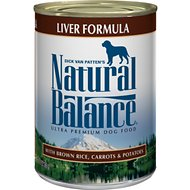 Natural Balance Ultra Premium Liver Formula Canned Dog Food, 13-oz, case of 12