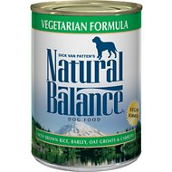 Natural Balance Vegetarian Formula Canned Dog Food, 13-oz, case of 12