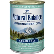 Natural Balance L.I.D. Limited Ingredient Diets Chicken & Sweet Potato Formula Canned Dog Food, 13-oz, case of 12