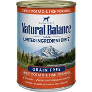 Natural Balance L.I.D. Limited Ingredient Diets Sweet Potato & Fish Formula Grain-Free Canned Dog Food, 13-oz, case of 12