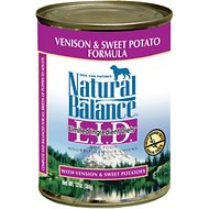 Natural Balance L.I.D. Limited Ingredient Diets Sweet Potato & Venison Formula Canned Dog Food, 13-oz, case of 12