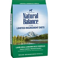 Natural Balance L.I.D. Limited Ingredient Diets Lamb Meal & Brown Rice Formula Dry Dog Food, 28-lb bag