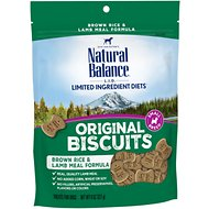 Natural Balance L.I.T. Limited Ingredient Treats Brown Rice & Lamb Meal Formula Dog Treats, Small Breed, 8-oz bag