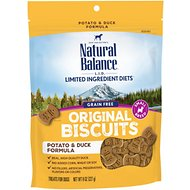 Natural Balance L.I.T. Limited Ingredient Treats Potato & Duck Formula Dog Treats, Small Breed, 8-oz bag
