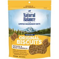 Natural Balance L.I.T. Limited Ingredient Treats Potato & Duck Formula Dog Treats, Regular, 14-oz bag