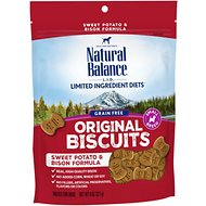 Natural Balance L.I.T. Limited Ingredient Treats Sweet Potato & Bison Formula Dog Treats, Small Breed, 8-oz bag