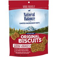 Natural Balance L.I.T. Limited Ingredient Treats Sweet Potato & Bison Formula Dog Treats, Regular, 14-oz bag