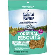 Natural Balance L.I.T. Limited Ingredient Treats Sweet Potato & Chicken Formula Dog Treats, Small Breed, 8-oz bag