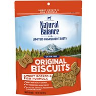 Natural Balance L.I.T. Limited Ingredient Treats Sweet Potato & Fish Formula Dog Treats, Regular, 14-oz bag