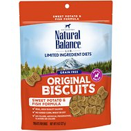 Natural Balance L.I.T. Limited Ingredient Treats Sweet Potato & Fish Formula Dog Treats, Small Breed, 8-oz bag