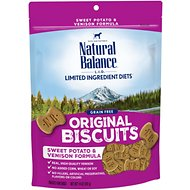 Natural Balance L.I.T. Limited Ingredient Treats Sweet Potato & Venison Formula Dog Treats, Regular, 14-oz bag