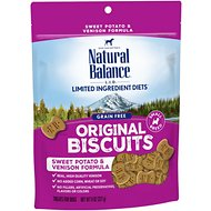 Natural Balance L.I.T. Limited Ingredient Treats Sweet Potato & Venison Formula Dog Treats, Small Breed, 8-oz bag