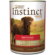 Nature's Variety Instinct Grain-Free Beef Formula Canned Dog Food, 13.2-oz, case of 12