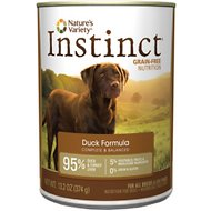 Nature's Variety Instinct Grain-Free Duck Formula Canned Dog Food, 13.2-oz, case of 12