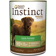 Nature's Variety Instinct Grain-Free Lamb Formula Canned Dog Food, 13.2-oz, case of 12