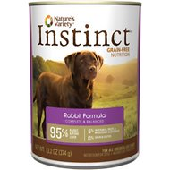 Nature's Variety Instinct Grain-Free Rabbit Formula Canned Dog Food, 13.2-oz, case of 12