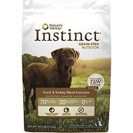 Nature's Variety Instinct Grain-Free Duck & Turkey Meal Formula Dry Dog Food, 25.3-lb bag