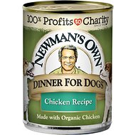 Newman's Own Organics Chicken Formula Canned Dog Food, 12.7-oz, case of 12