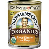Newman's Own Organics Grain-Free Liver Canned Dog Food, 12-oz, case of 12