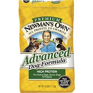 Newman's Own Advanced Formula Dry Dog Food, 25-lb bag