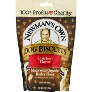 Newman's Own Organics Chicken Flavor Medium Size Dog Treats, 10-oz