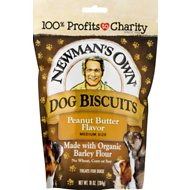 Newman's Own Organics Peanut Butter Flavor Medium Size Dog Treats, 10-oz