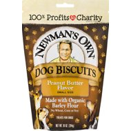 Newman's Own Organics Peanut Butter Flavor Small Size Dog Treats, 10-oz
