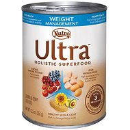 Nutro Ultra Weight Management Chunks in Gravy Canned Dog Food, 12.5-oz, case of 12