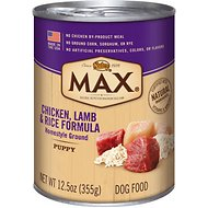 Nutro Max Puppy Chicken, Lamb & Rice Formula Canned Dog Food, 12.5-oz, case of 12