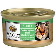 Nutro Max Adult Chicken Supreme Entree Chunks in Sauce Canned Cat Food, 3-oz, case of 24