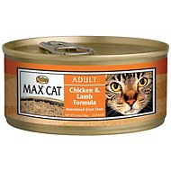 Nutro Max Adult Chicken & Lamb Formula Canned Cat Food, 5.5-oz, case of 24