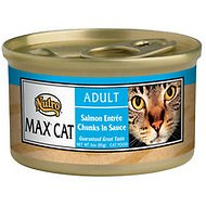 Nutro Max Adult Salmon Entree Chunks in Sauce Canned Cat Food, 3-oz, case of 24