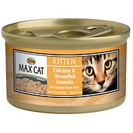 Nutro Max Kitten Chicken & Oceanfish Formula Canned Cat Food, 3-oz, case of 24