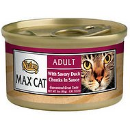 Nutro Max Adult With Savory Duck Chunks in Sauce Canned Cat Food, 3-oz, case of 24